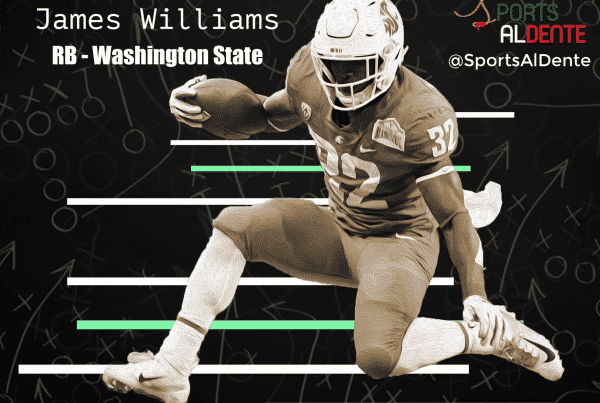 James Williams NFL Draft Profile. Photo Credit: The Spokesman-Review / Sports Al Dente Illustration
