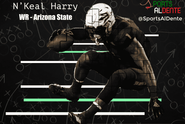 N'Keal Harry NFL Draft Profile. Photo Credit: USA Today Images / Sports Al Dente Illustration