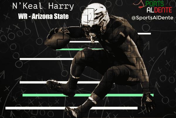 N'Keal Harry NFL Draft Profile. Photo Credit: USA Today Images / Sports Al Dente Illustration