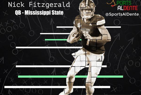 Nick Fitzgerald NFL Draft Profile | Sports Al Dente Illustration