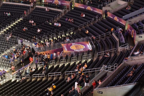 An Empty Staples Center. Photo Credit: Miguel Discart | Under Creative Commons License