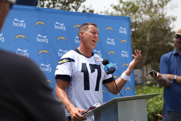 Philip Rivers Legacy. Los Angeles Chargers QB Philip Rivers During Training Camp In 2018. Photo Credit: Monica Dyrud