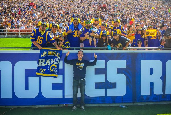 Los Angeles Mayor Eric Garcetti With Rams Fans. Photo Credit: Eric Garcetti | Under Creative Commons License