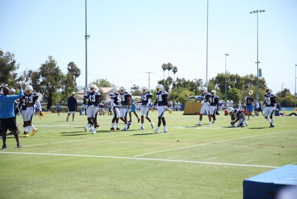 Los Angeles Chargers Defensive Backs 2019 Training Camp. Photo Credit: Ryan Dyrud | Sports Al Dente