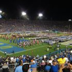 High School Marching Bands Perform During Halftime At The Rose Bowl. Photo Credit: Ken Lund   Under Creative Commons License