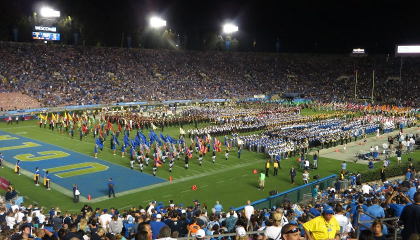 High School Marching Bands Perform During Halftime At The Rose Bowl. Photo Credit: Ken Lund | Under Creative Commons License