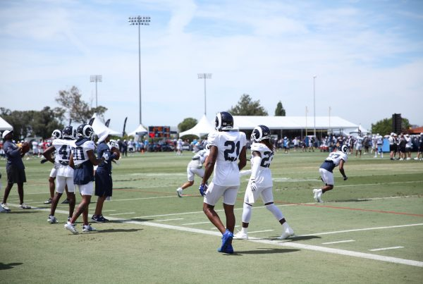Cornerback Aqib Talib During Rams And Chargers Joint Practice. Photo Credit: Ryan Dyrud | Sports Al Dente
