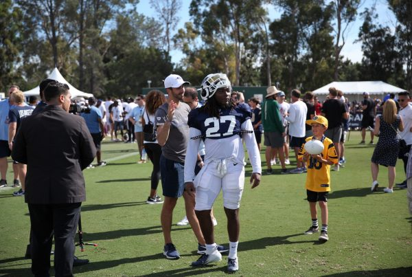 Los Angeles Rams Running Back Darrell Henderson. Photo Credit: Ryan Dyrud   The LAFB Network