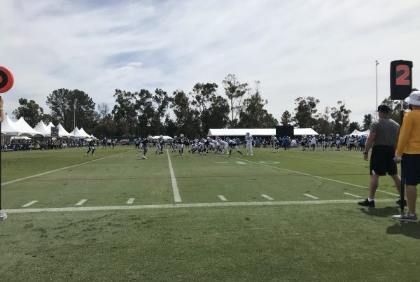 LA Rams Offense And Robert Woods Line Up Against The Chargers Defense During Joint Practice Of 2019 Training Camp. Photo Credit: Ryan Dyrud | Sports Al Dente