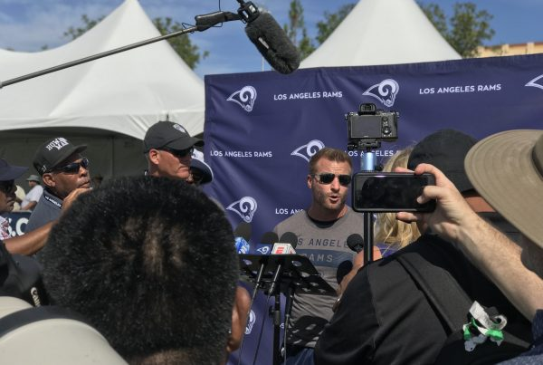 Rams Head Coach Sean McVay After Joint Practice With The Chargers. Photo Credit: Ryan Dyrud | The LAFB Network
