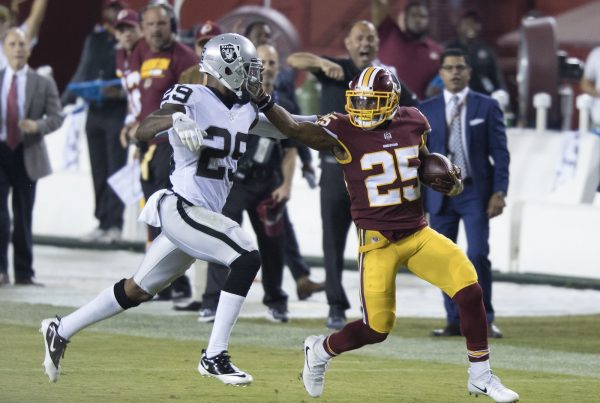 Washington Redskins Running Back Chris Thompson. Photo Credit: KA Sports Photos | Under Creative Commons License
