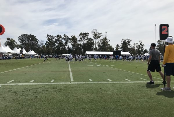 Rams Offense Vs Chargers Defense In 2019 Joint Practice. Photo Credit: Ryan Dyrud | The LAFB Network