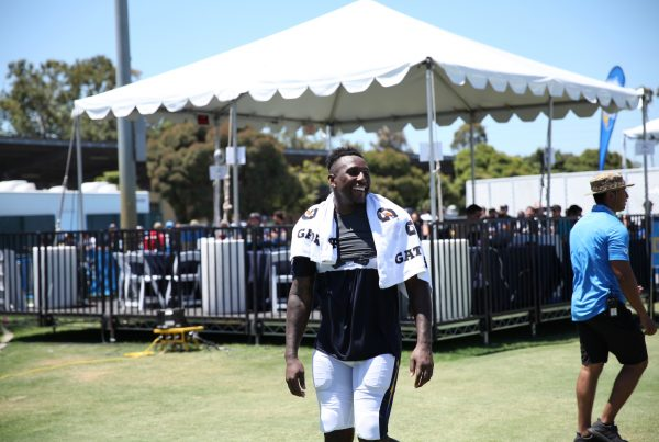 Los Angeles Chargers Linebacker Thomas Davis During 2019 Training Camp. Photo Credit: Ryan Dyrud | The LAFB Network