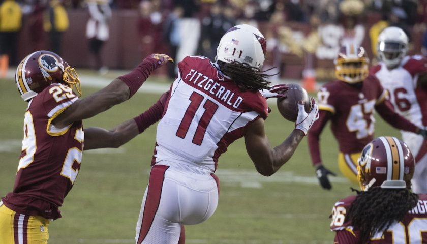 Arizona Cardinals Wide Receiver Larry Fitzgerald. Photo Credit: KA Sports Photos | Under Creative Commons License