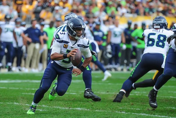 Seattle Seahawks Quarterback Russell Wilson. Photo Credit: Brook Ward | Under Creative Commons License