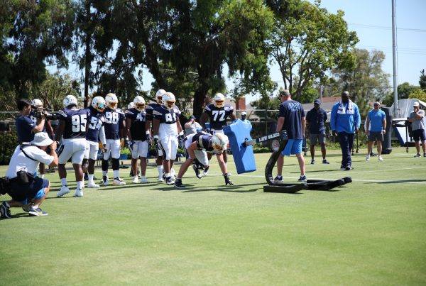 Joey Bosa And The Chargers Defensive Line. Photo Credit: Ryan Dyrud | The LAFB Network