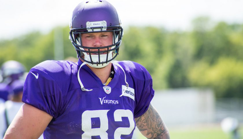 Minnesota Vikings Tight End Kyle Rudolph. Photo Credit: Matthew Deery | Under Creative Commons License