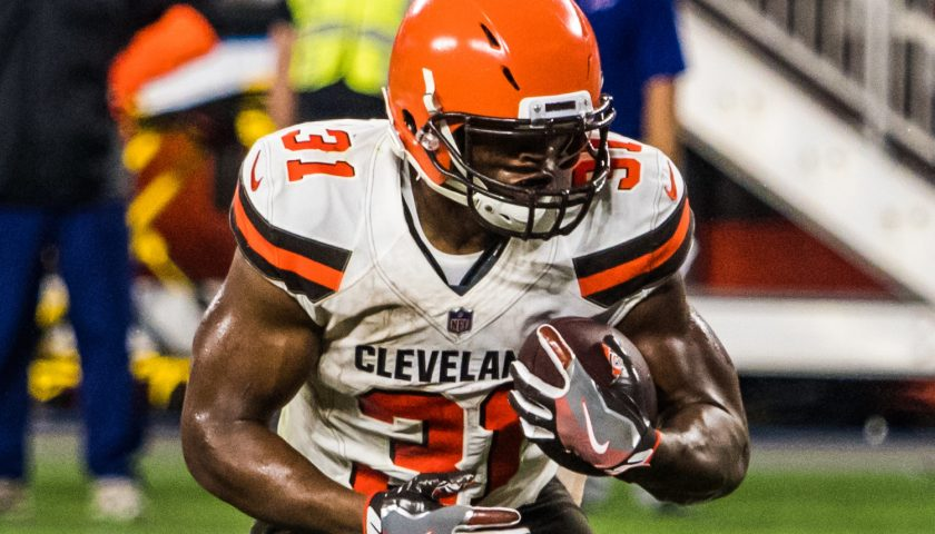 Cleveland Browns Running Back Nick Chubb. Photo Credit: Erik Drost | Under Creative Commons License