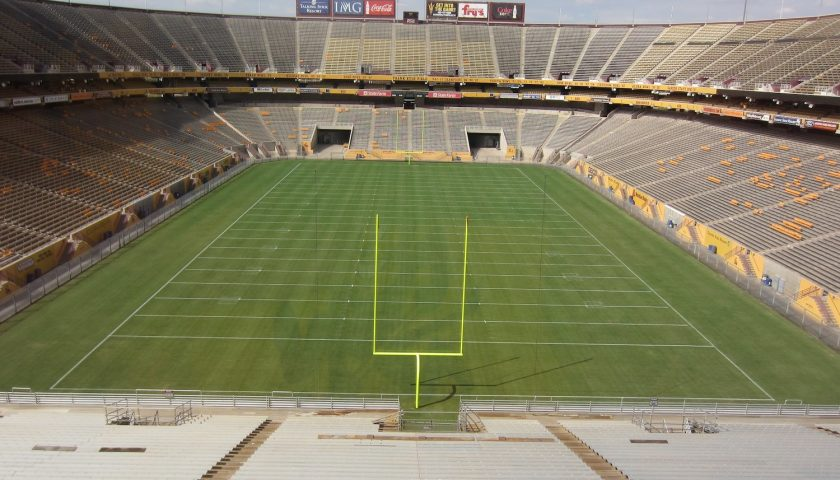Arizona State Sun Devil Stadium. Photo Credit: Nick Bastian | Under Creative Commons License