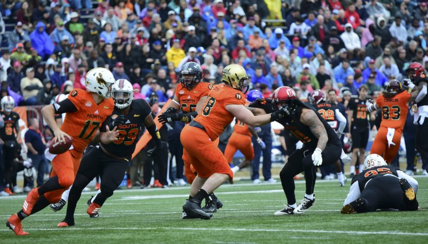 Josh Allen At The Senior Bowl. Photo Credit: Brandon Sierra | Under Creative Commons License