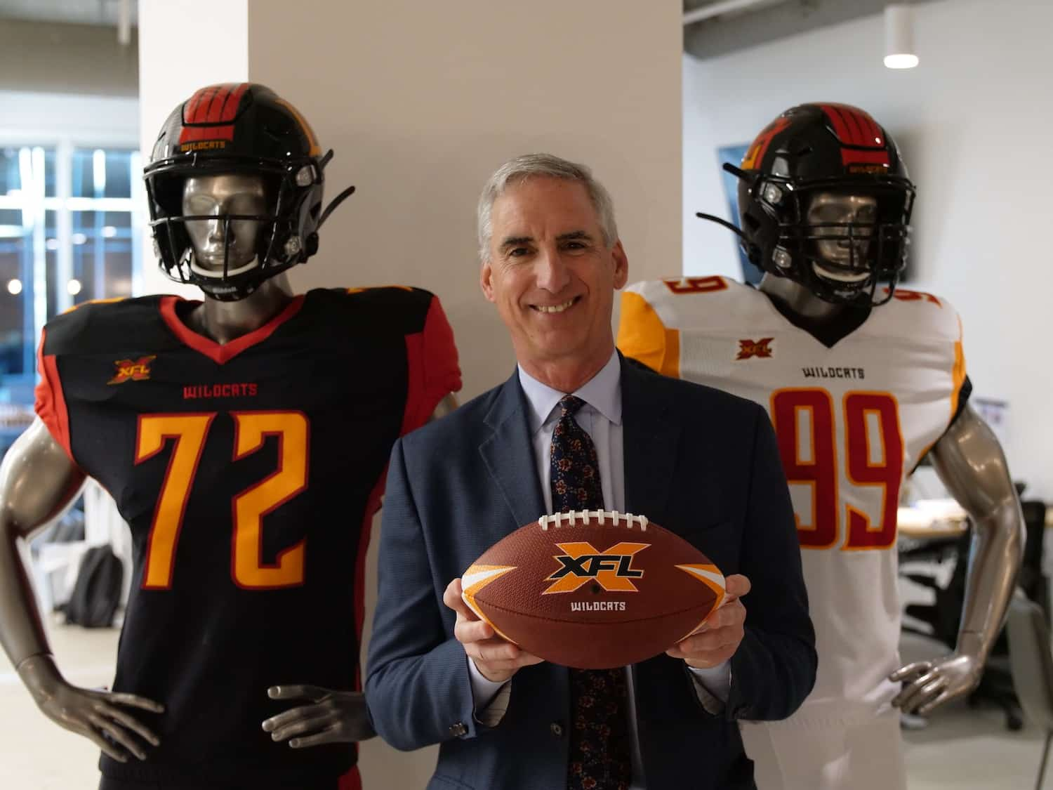 XFL Commissioner Oliver Luck Visits Media In Los Angeles