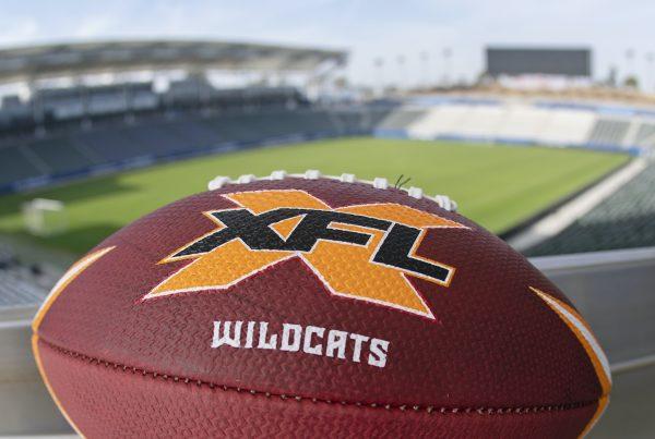 Los Angeles XFL Wildcats Football. Photo Credit: XFL Wildcats