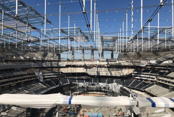 Inside Of SoFi Stadium During Construction. Photo Credit: Ryan Dyrud   The LAFB Network