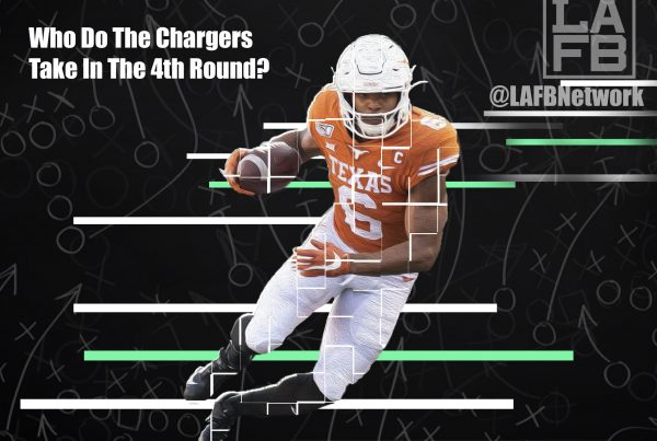 NFL WR Prospect Devin Duvernay. Photo Credit: TexasSports.com | LAFB Network Graphic