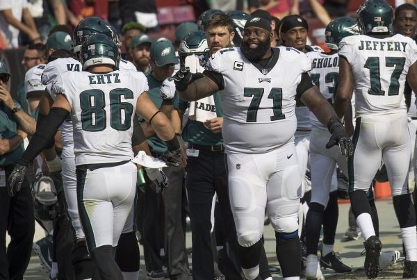 NFL Left Tackle Jason Peters. Photo Credit: KA Sports Photos | Keith Allison | Under Creative Commons License